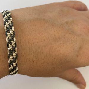 Other - Unisex silver bracelet 8mm braid wire handmade